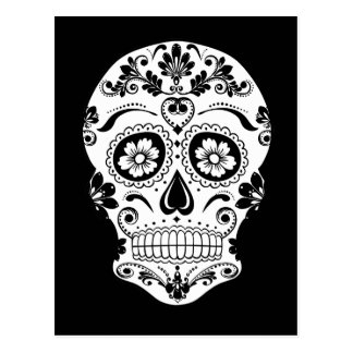 DAY OF THE DEAD SUGAR SKULL POSTCARD