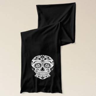 DAY OF THE DEAD SUGAR SKULL SCARF