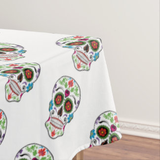 DAY OF THE DEAD SUGAR SKULL TABLECLOTH