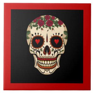 Day of the Dead Sugar Skull Tile