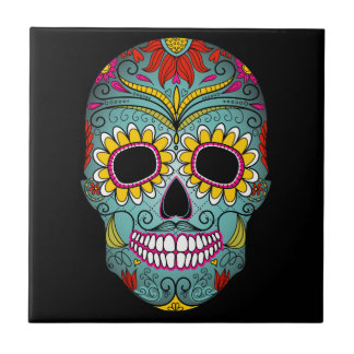 Day of the Dead Sugar Skull Tile