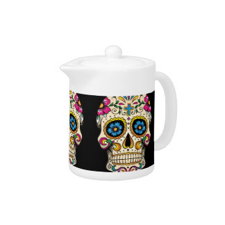 Day of the Dead Sugar Skull with Cross