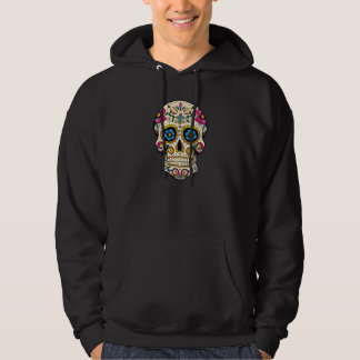 Day of the Dead Sugar Skull with Cross Hoodie