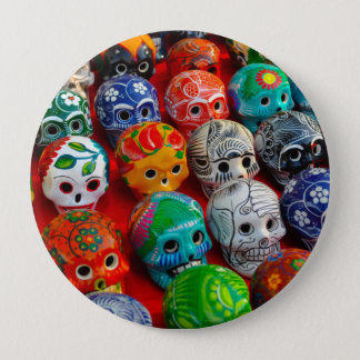 Day of the Dead Sugar Skulls 4 Inch Round Button