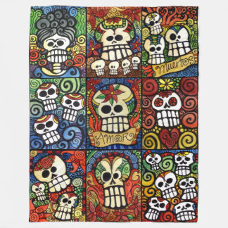 Day of the Dead Sugar Skulls Collection Fleece Blanket