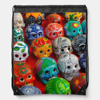 Day of the Dead Sugar Skulls Drawstring Bag