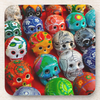 Day of the Dead Sugar Skulls Drink Coasters