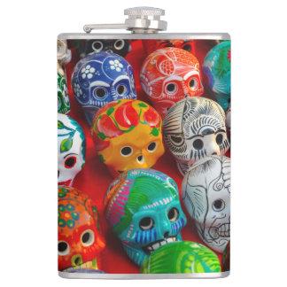 Day of the Dead Sugar Skulls Hip Flask