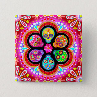 Day of the Dead Sugar Skulls Pin / Button