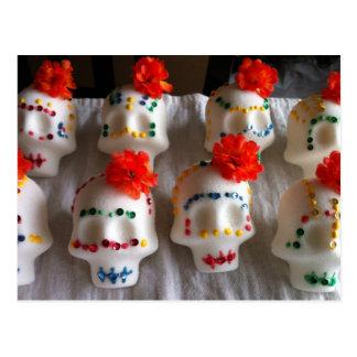 Day of the Dead sugar skulls Postcard
