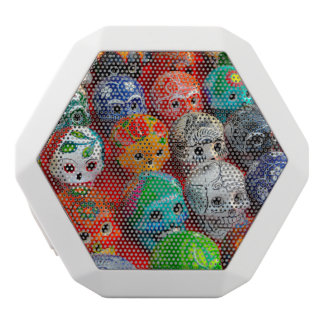 Day of the Dead Sugar Skulls White Bluetooth Speaker