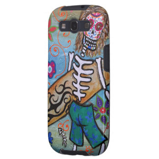 Day of the Dead Surfer Galaxy SIII Cases
