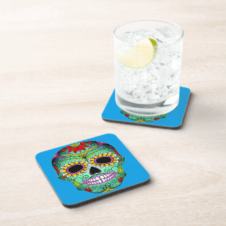 Day Of The Dead Tattoo Skull Coasters