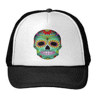 Day Of The Dead Tattoo Skull Trucker Hat