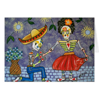 Day of the Dead The Proposal Wedding Date Notecard
