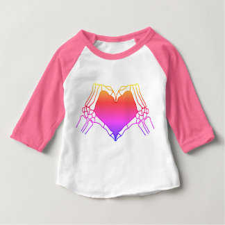 """Day of the Dead"" Toddler Raglan T-Shirt, Neon Baby T-Shirt"