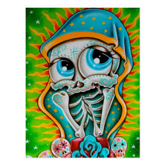 Day of the Dead Virgin Postcard