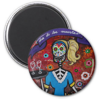 DAY OF THE DEAD WAITRESS MAGNET