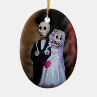 Day of the Dead Wedding Couple Ceramic Ornament