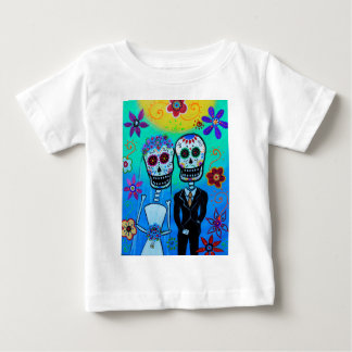 DAY OF THE DEAD WEDDING COUPLE SPECIAL BABY T-Shirt
