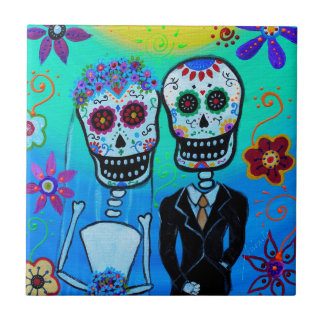 DAY OF THE DEAD WEDDING COUPLE SPECIAL CERAMIC TILES