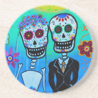 DAY OF THE DEAD WEDDING COUPLE SPECIAL COASTERS