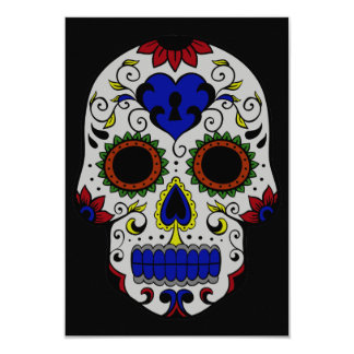Day of the Dead with Blue Key Heart Card