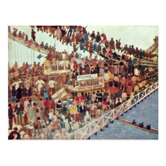 Day Of The Race By Walter Greaves Postcard