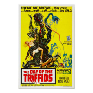 Day of the Triffids Vintage Movie Poster