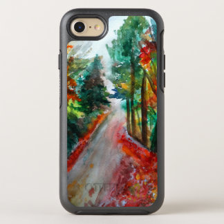 Day out in Autumn Landscape  Watercolor OtterBox Symmetry iPhone 8/7 Case