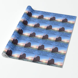 """Day Recedes Poetry Glossy Wrapping Paper, 30"""" x 6' Wrapping Paper"""