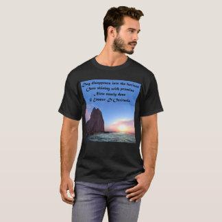 Day Recedes Poetry Men's Basic Dark T-Shirt