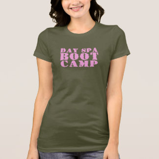 Day Spa Boot Camp - Pink and Camo tee
