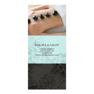 Day Spa Massage Therapy Price List {Teal Blue} Full Color Rack Card