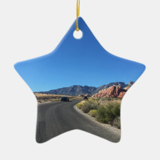 Day trip through Red Rock National Park Ceramic Star Ornament