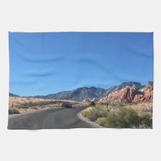 Day trip through Red Rock National Park Kitchen Towel