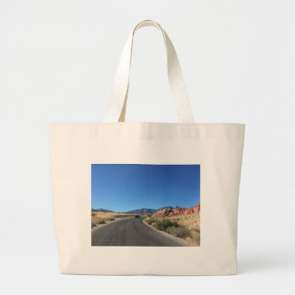 Day trip through Red Rock National Park Large Tote Bag