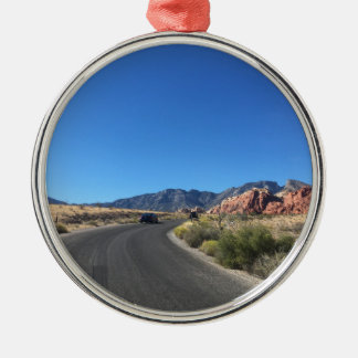 Day trip through Red Rock National Park Silver-Colored Round Ornament