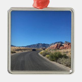 Day trip through Red Rock National Park Silver-Colored Square Ornament