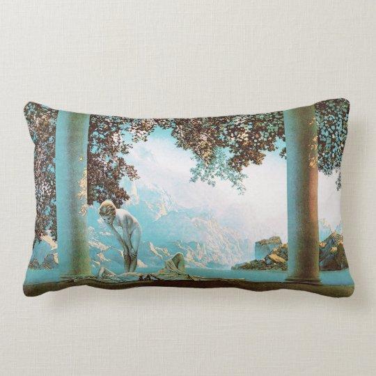 Daybreak, by Maxfield Parrish Lumbar Pillow