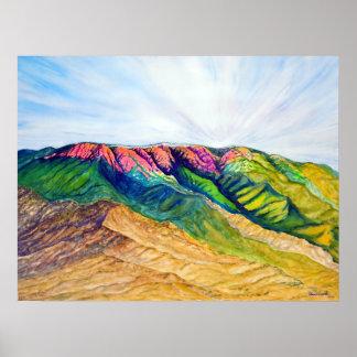 Daybreak over Sandia Mountains Poster