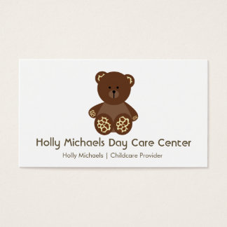 Daycare / Babysitter Bear Business Cards