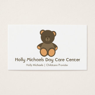 Daycare / Babysitter Bear Business Cards