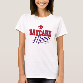 Daycare Mama Red and Blue T-Shirt