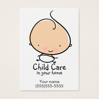 Daycare or Babysitting custom business card