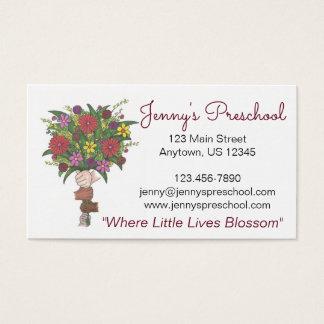 Daycare Preschool Teacher Little Hands Bouquet Business Card