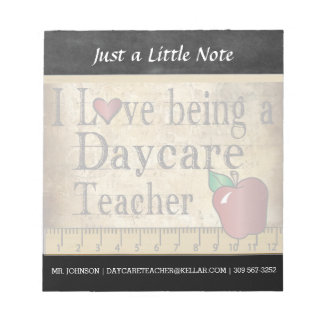 Daycare Teacher | Vintage Style Notepad