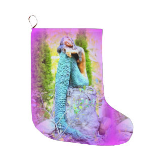 daydreaming mermaid christmas stocking