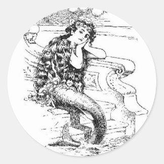 Daydreaming Mermaid Classic Round Sticker