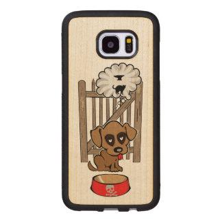 Daydreaming Puppy Wood Samsung Galaxy S7 Edge Case